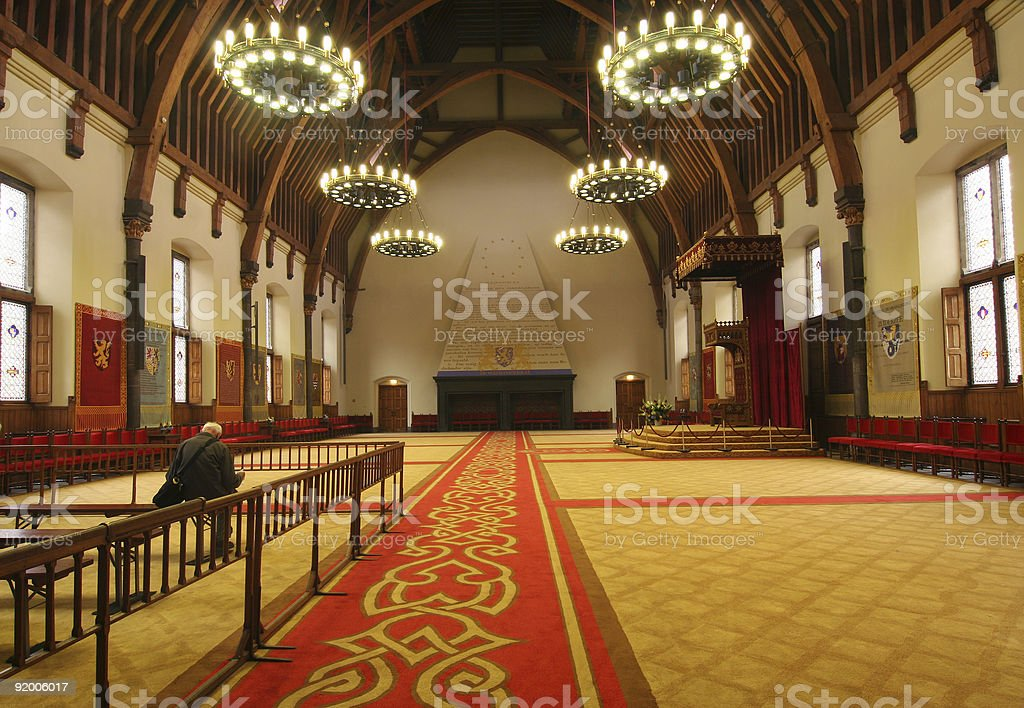 Throne Room of Dutch Queen stock photo