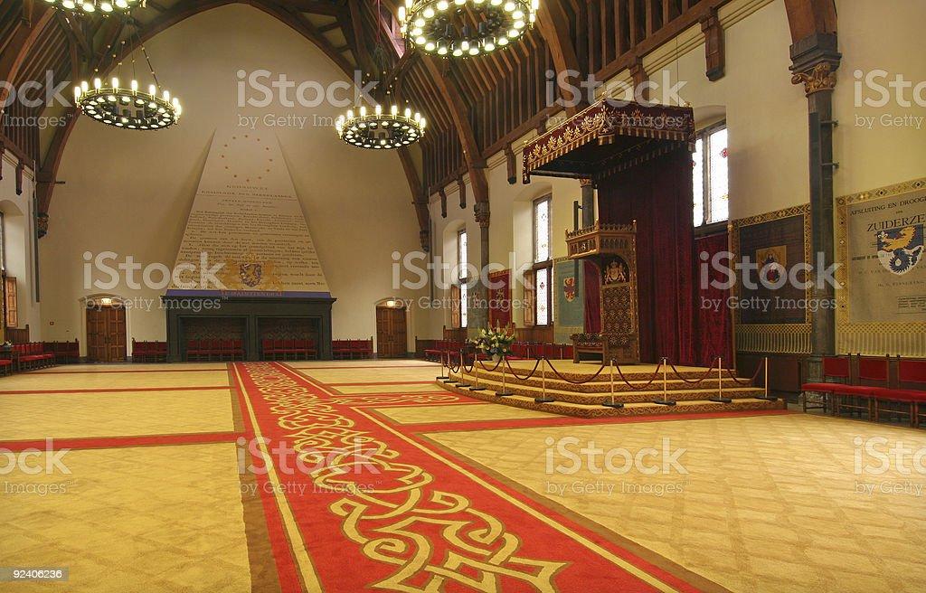 Throne Room stock photo