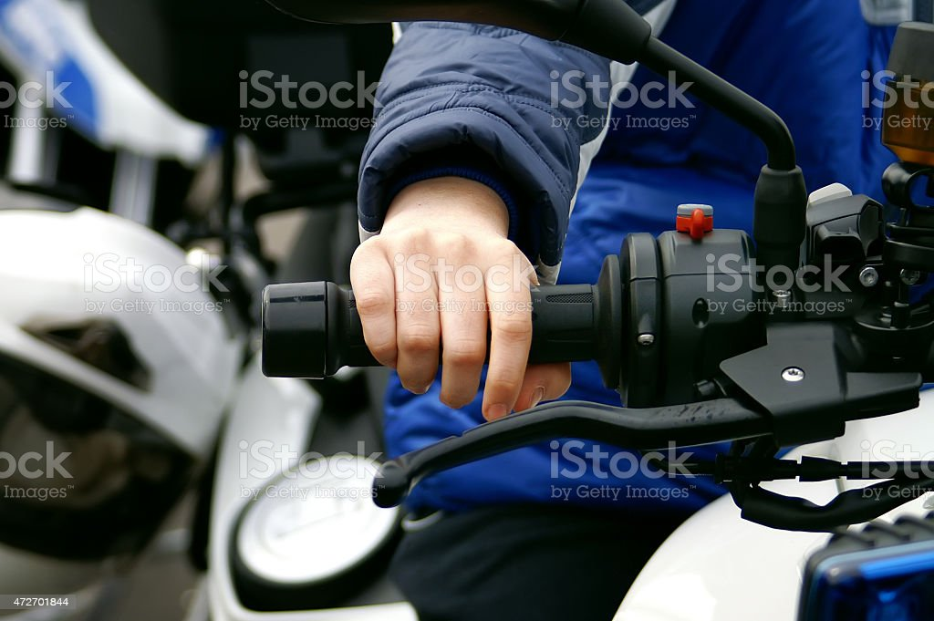 Throttle control stock photo