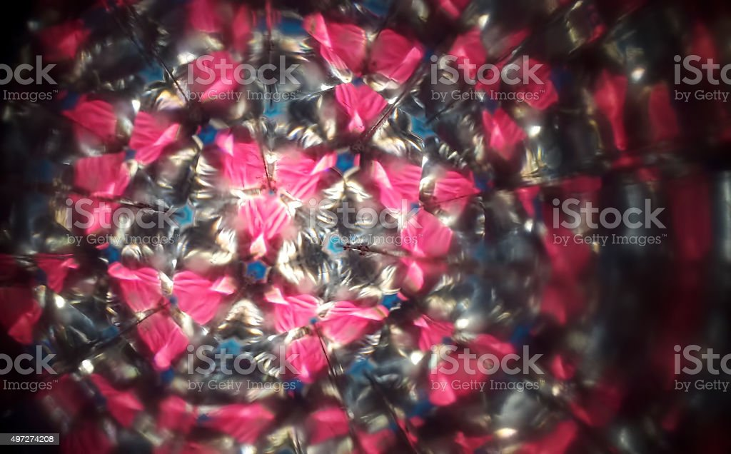 Through a kaleidoscope stock photo