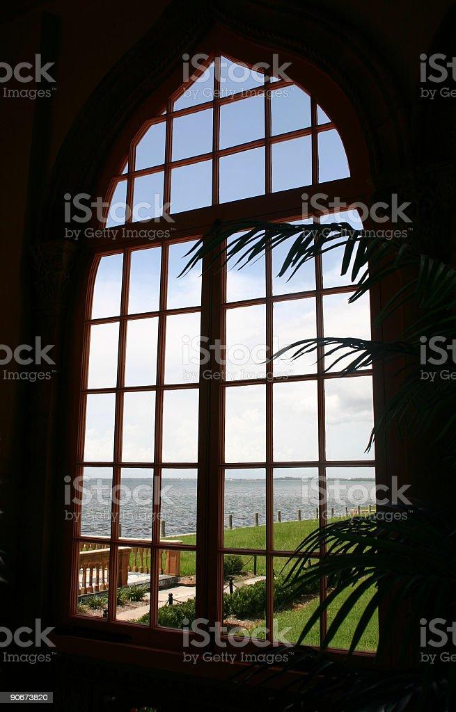 Through a Venetian Window royalty-free stock photo