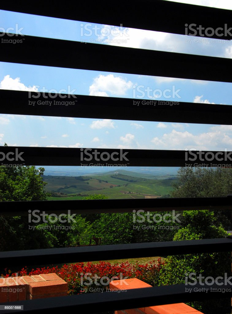 Through a Window Brightly royalty-free stock photo
