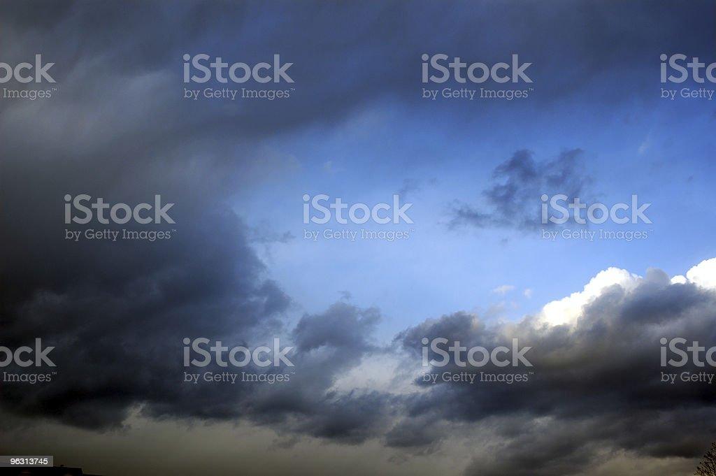 Through Dark Clouds royalty-free stock photo