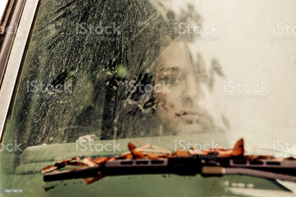 Through Dirty Glass stock photo
