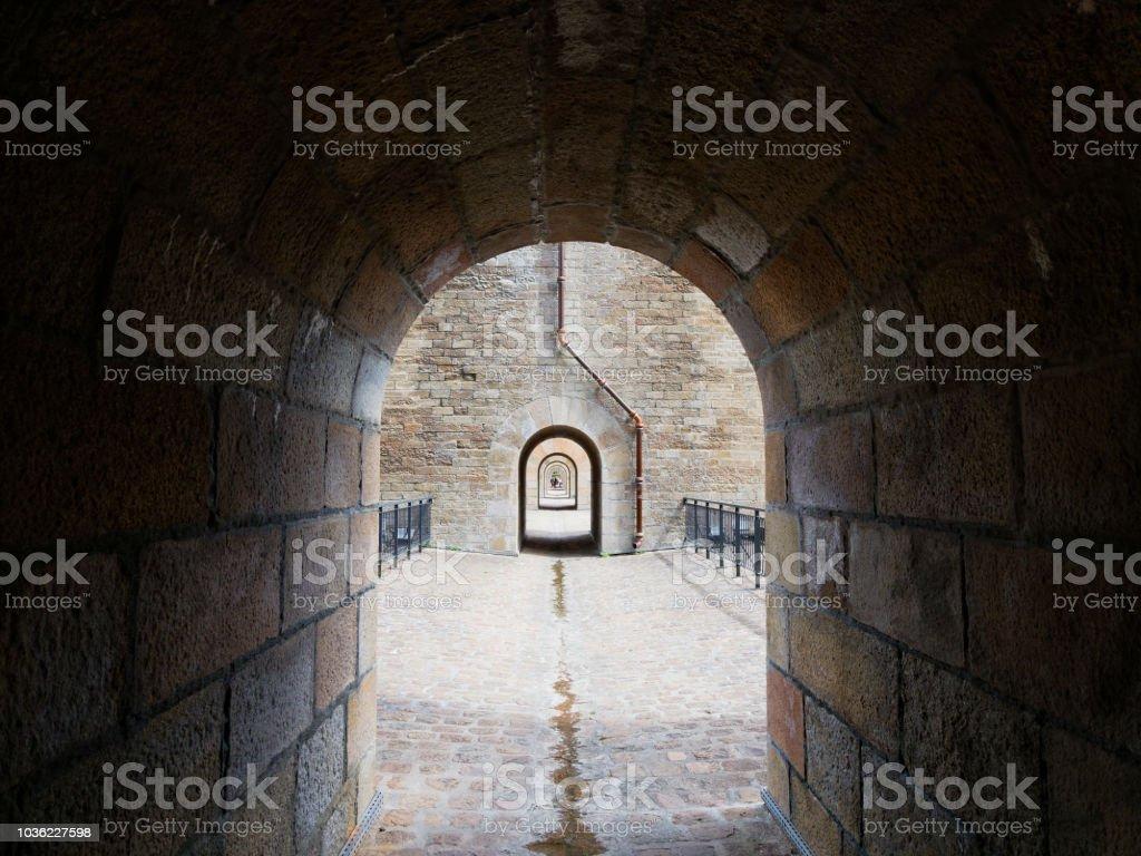 Through the arches stock photo
