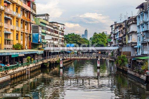 through the canal of Bangkok Thailand Asia
