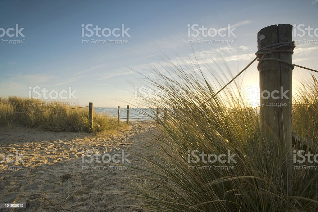 Through the dunes... stock photo