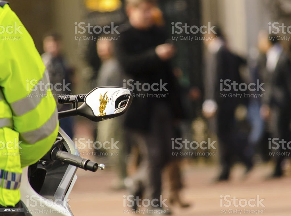 Through the eye of the law stock photo