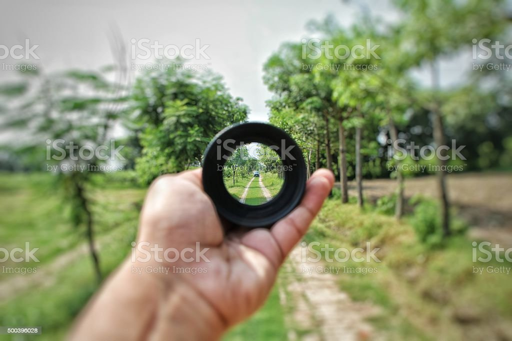Through the lens stock photo