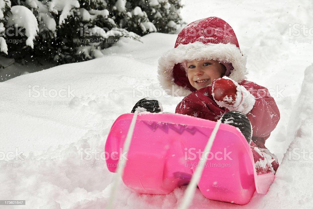 Through the snow royalty-free stock photo