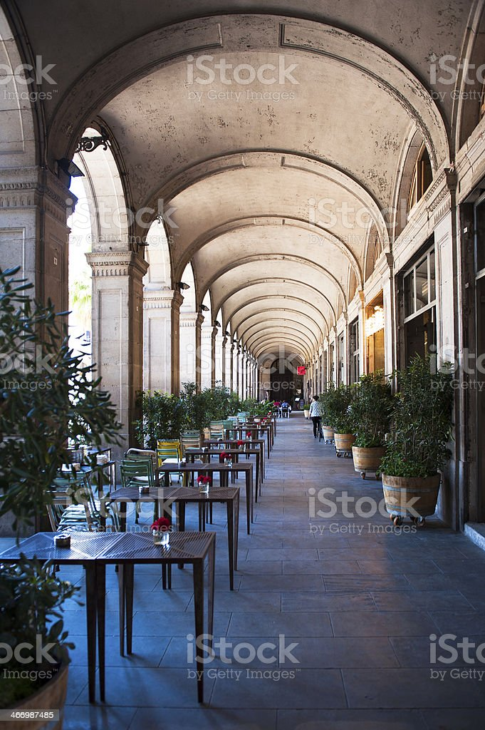 Through the streets of Barcelona royalty-free stock photo