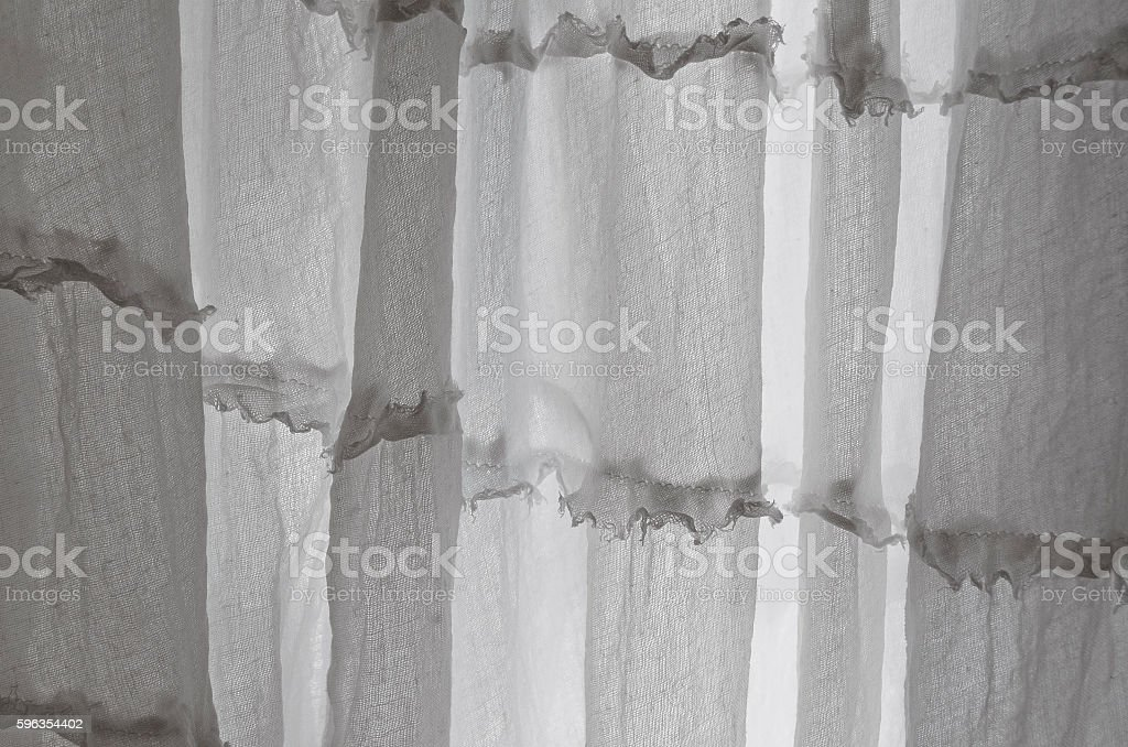 Through the tulle and curtains royalty-free stock photo