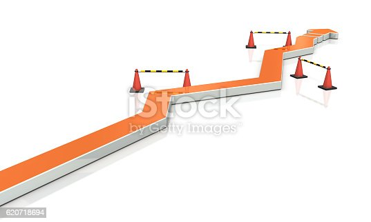 istock Through the twists and turns, project move forward. 620718694
