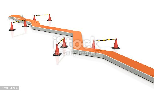 istock Through the twists and turns, project move forward. 623120502