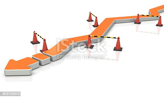 istock Through the twists and turns, project move forward. 623120510