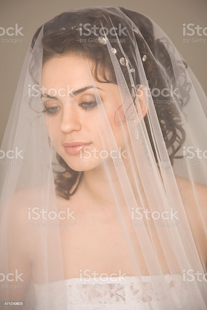 Through the veil royalty-free stock photo