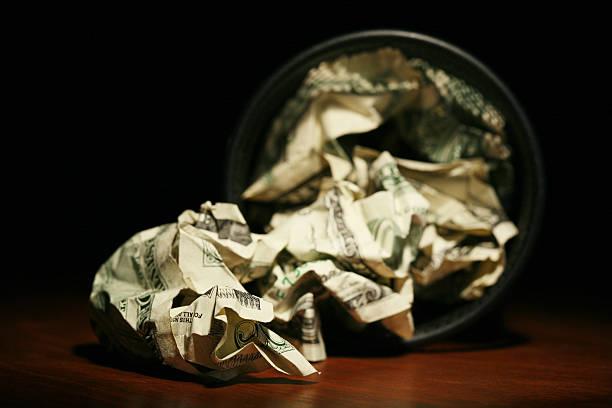 Throw Away Money stock photo