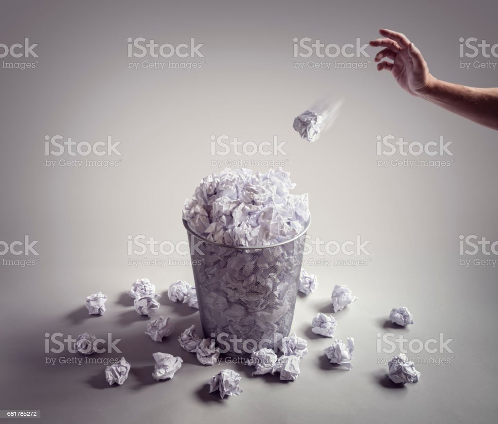 Throw it in the waste paper basket or office bin - Photo