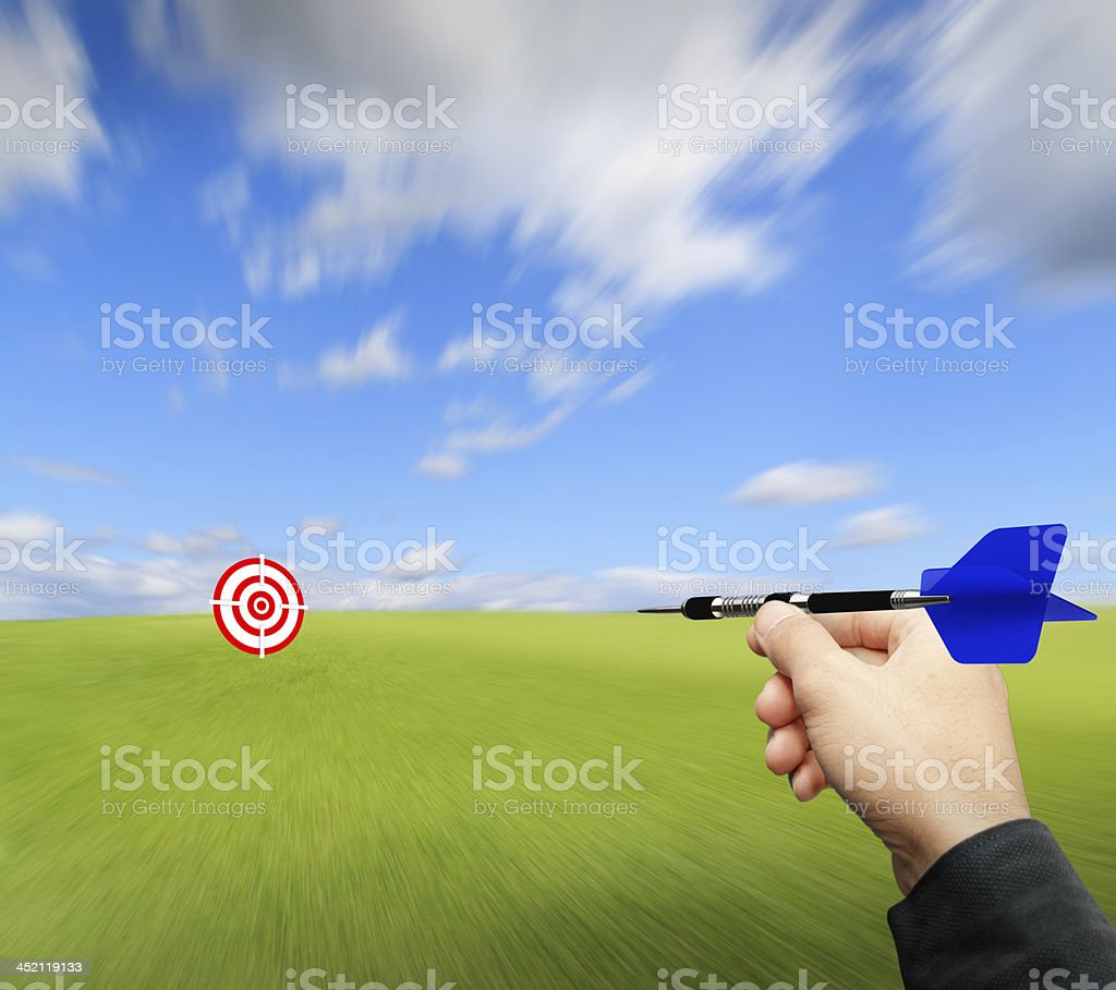 throw the dart to target royalty-free stock photo