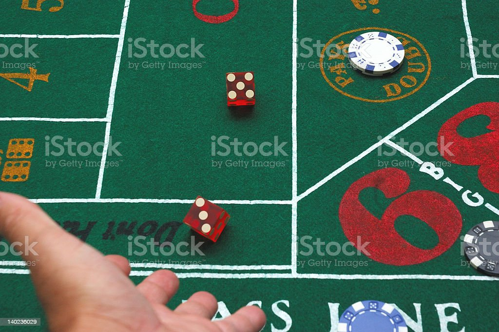 Throw The Dice royalty-free stock photo
