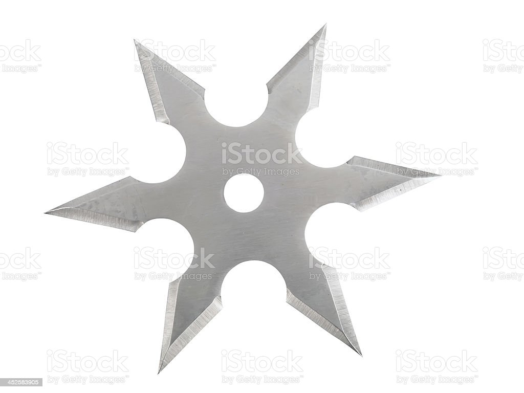 Throwing blade star stock photo