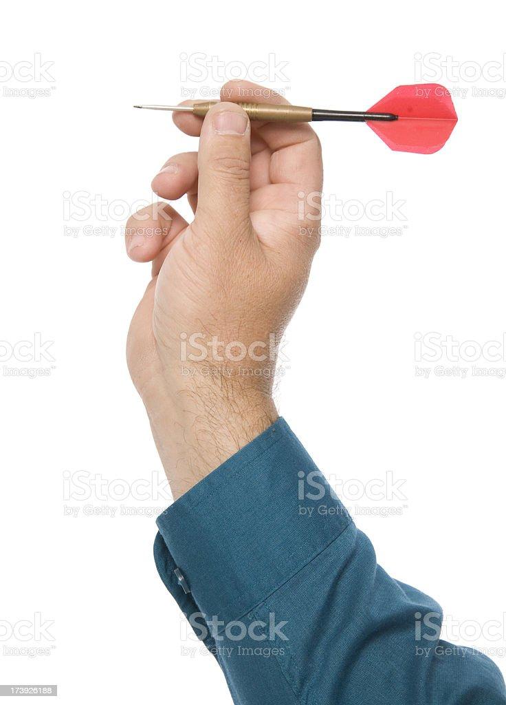 Throwing Dart royalty-free stock photo