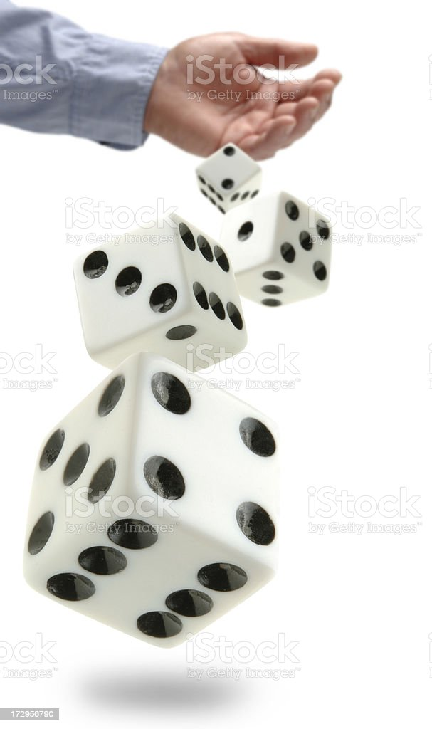 Throwing Dice royalty-free stock photo