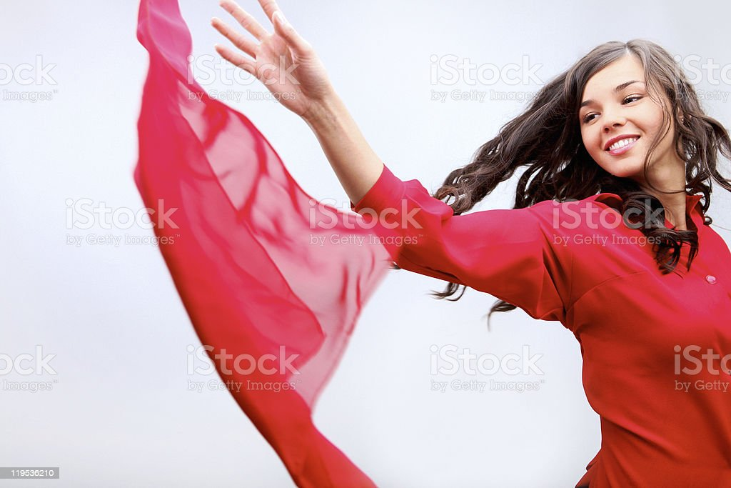 Throwing fabric royalty-free stock photo