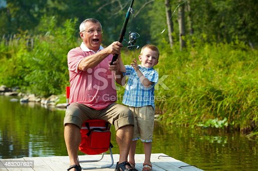 istock Throwing fishing tackle 483207632