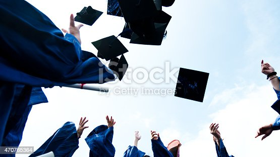 1009462356 istock photo throwing graduation hats 470765364