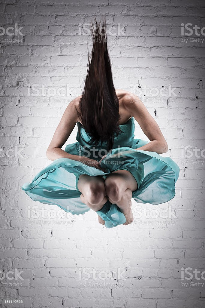 Throwing her hair royalty-free stock photo