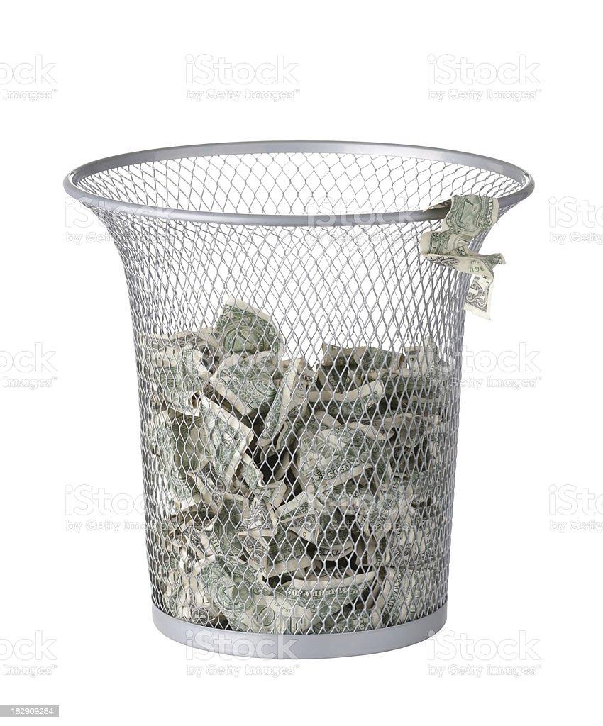 Throwing Money Away royalty-free stock photo
