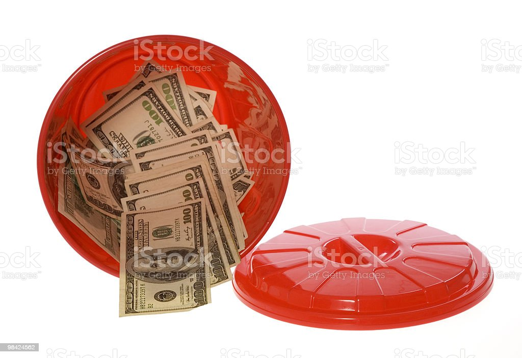 Throwing Money Away royalty-free stock photo