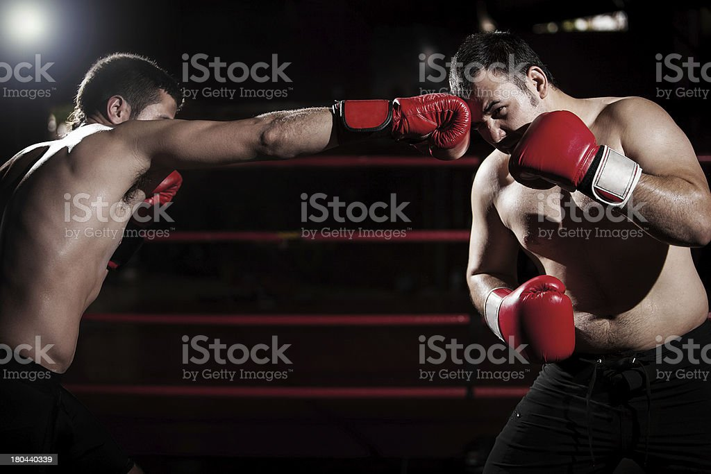 Throwing some jabs at an opponent royalty-free stock photo