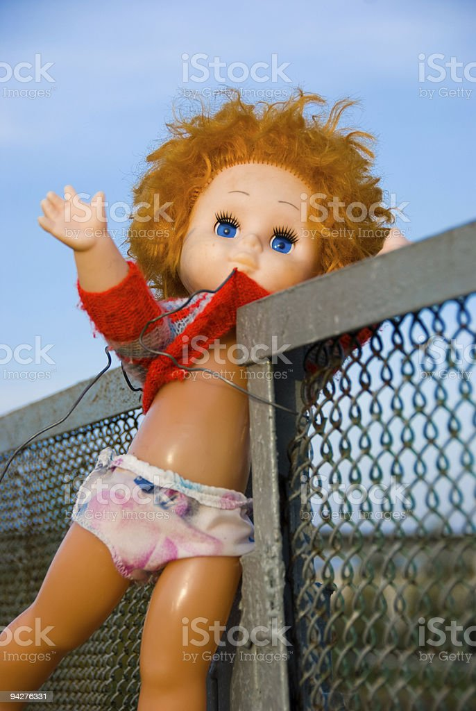 Thrown out doll royalty-free stock photo