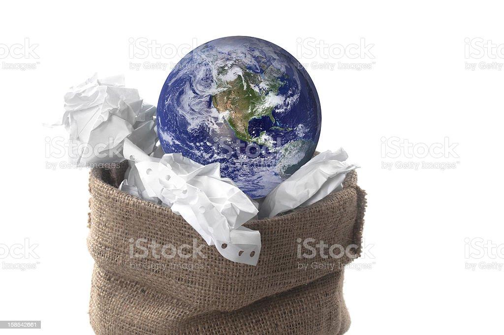 Thrown Planet royalty-free stock photo