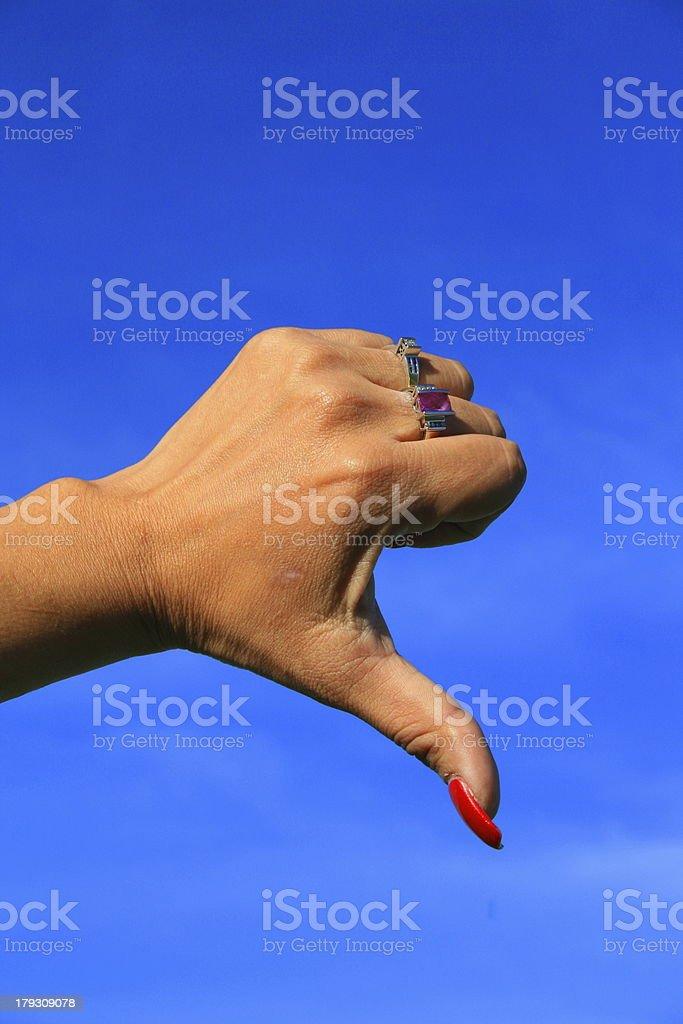 Thumb Down Sign Close Up royalty-free stock photo