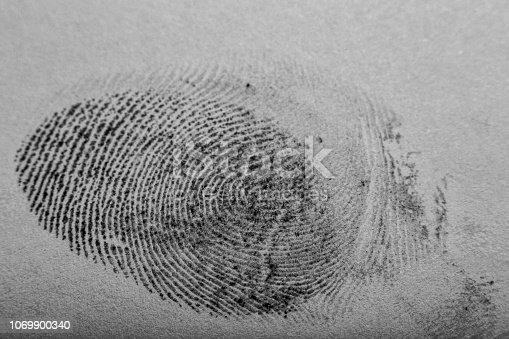 Close-up of a thumbprint