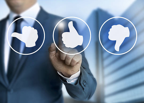 Daumen Sie-Konzept-Symbole für Kunden – Foto