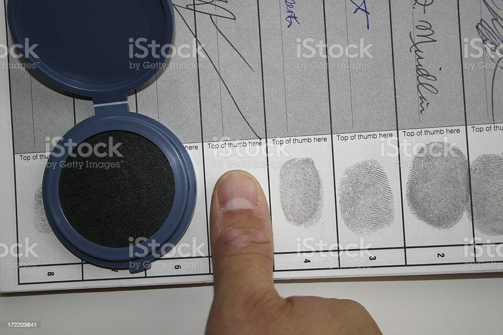 Thumb Print stock photo