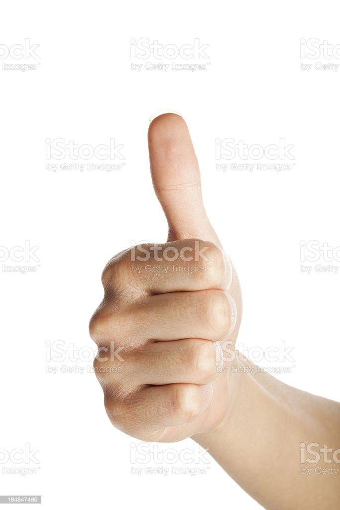 Thumb up isolated on white stock photo