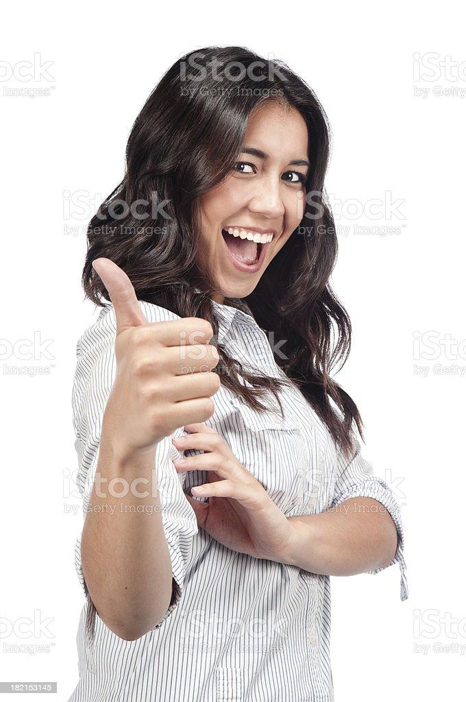 Thumb up lady royalty-free stock photo