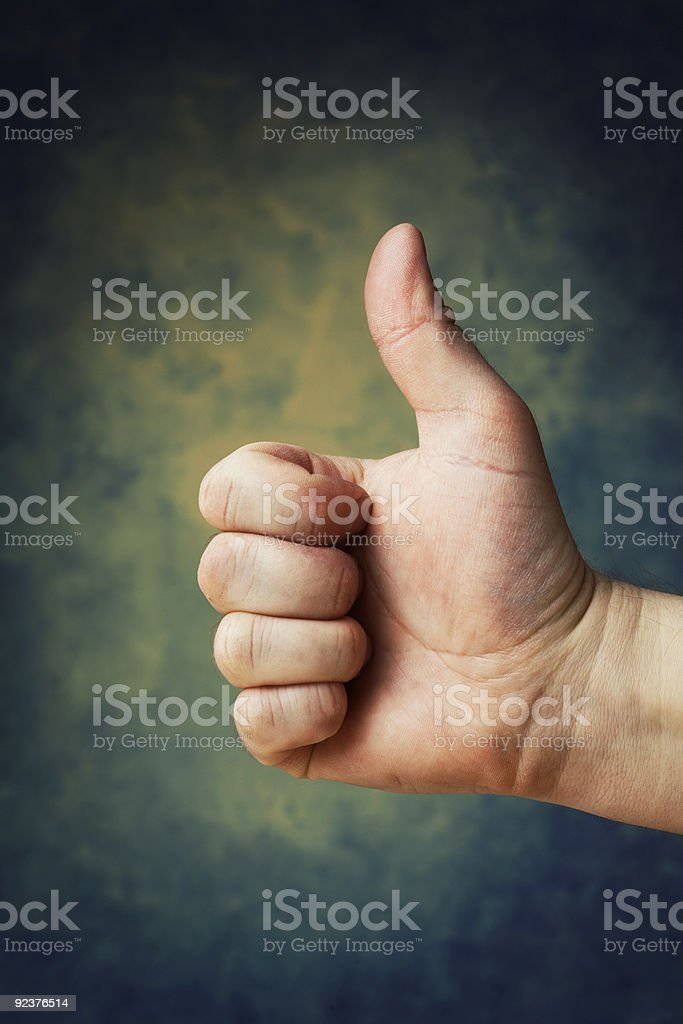 Thumb up! royalty-free stock photo