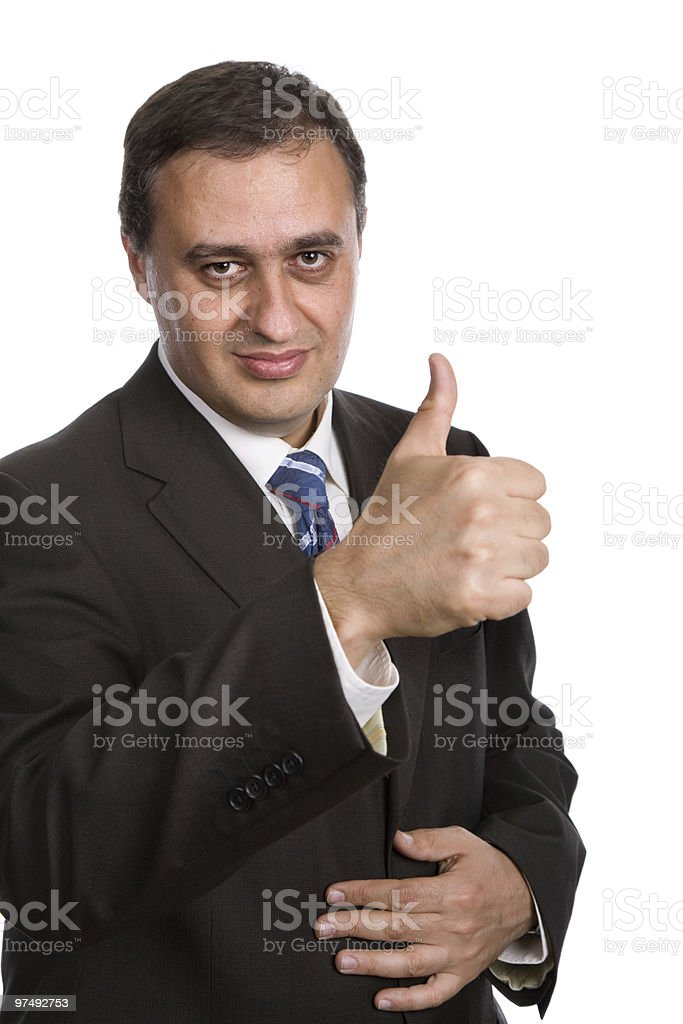 thumb up royalty-free stock photo