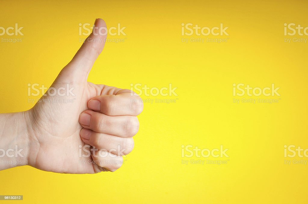 thumb up stock photo