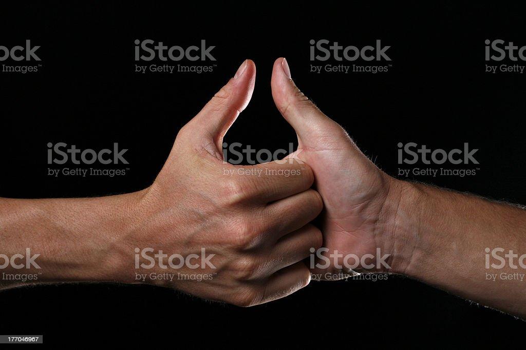 Thumb Wars stock photo