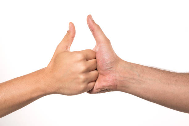 thumb wars - thumb stock photos and pictures