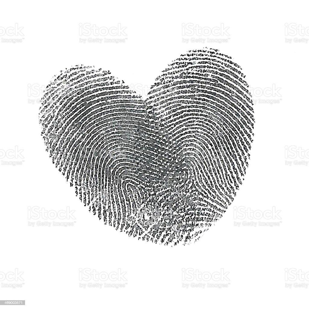 Thumbprint heart stock photo