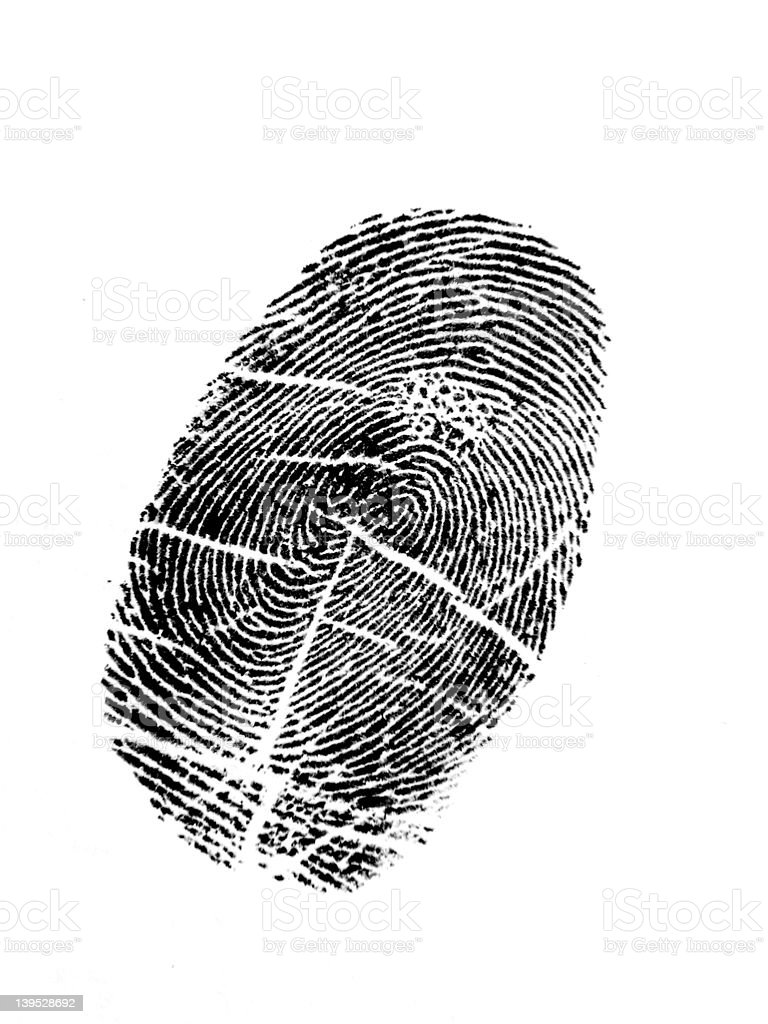 Thumbprint royalty-free stock photo