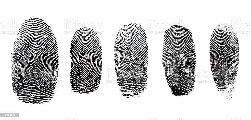 Thumbprint Set royalty-free stock photo